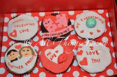 Romantic Cupcakes - 6 Set of Love Cupcakes with Couple Memories and Stories | All Things Yummy #cupcake #cupcakes #cupcakearmy #hearts #valentine #chocolatefudge #redvelvet #allthingsyummy #hearts #love #loveydovey #girl #boy #inlove #iloveyou #world #globe #earth #mylove