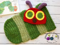 Newborn Hungry Caterpillar hat and cocoon