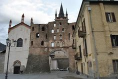 Susa Cathedral (Italy).  Possible burial place of Adelaide of Susa (d. 1091), Mike's 30th great-grandmother.  July 1029, Ulric Mandred II and his wife Bertha , Mike's 31st great-grandparents, founded Abbey of San Giusto AKA Susa Cathedral.