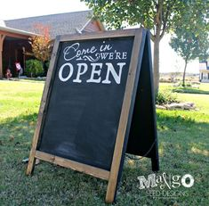 Chalk Board Open Sign - Yahoo Image Search Results
