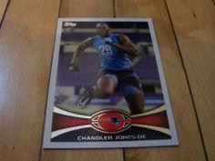 2012 Topps NFL Football 76 Chandler Jones RC Rookie Card New England Patriots   eBay #2012Topps #ChandlerJones #NewEnglandPatriots #rookiecard