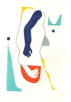 Mirella Bruno Visual Acoustics. - herbertgreen: Life drawings using colour paper...