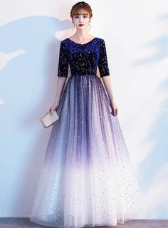 Hijab Dress Party, Sequin Party Dress, Party Gowns, Blue Sequin Dress, Gala Dresses, Homecoming Dresses, Evening Dresses, Formal Dresses, Sparkle Dresses