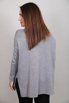 Baby, It's Cold Outside Lace-Up Sweater {Gray} - The Rage - 3
