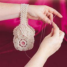 Victorian thread holder bag