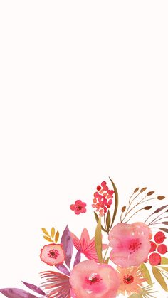 New flowers vector design iphone Ideas Elephant Wallpaper, Iphone 6 Wallpaper, Mobile Wallpaper, Wallpaper Backgrounds, Watercolor Flowers, Watercolor Art, Iphone Hintegründe, Vintage Elephant, Motif Floral