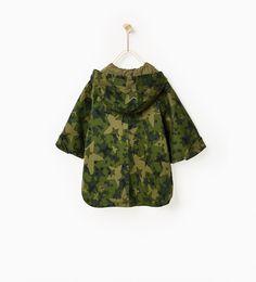 ZARA - KIDS - Star camouflage cape