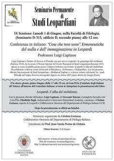 Voci Letterarie e non solo: IX Sessione del Seminario Permanente di Studi Leop...
