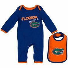 Florida Gators Infant Tuck Romper and Bib Set - Royal Blue/Orange