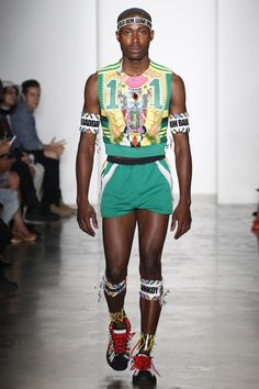 Haus of Loué — Parsons MFA S/S 17. Green Retro Basketball Outfit...