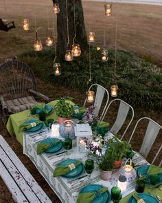 Southern Ladies, Southern Style, Frosted Mason Jars, Outdoor Table Settings, Chasing Fireflies, Architectural Features, Twinkle Lights, Outdoor Entertaining, Garden Styles