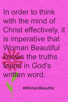 "An excerpt from ""Woman Beautiful, Embracing The Woman God Created You To Be."""