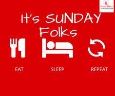 Eat sleep & Repeat .   #sunday #funday #sleep #eat #repeat - http://ift.tt/1HQJd81