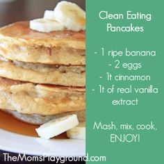 Clean eating pancakes