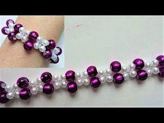 Fancy pony beads bracelet. Easy beading for beginners - YouTube