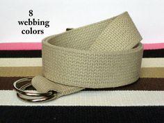 Canvas Belt  / DRing Belt /  Solid Color Belt by FashionablyLauren, $15.00