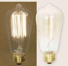 Cool old time light bulbs