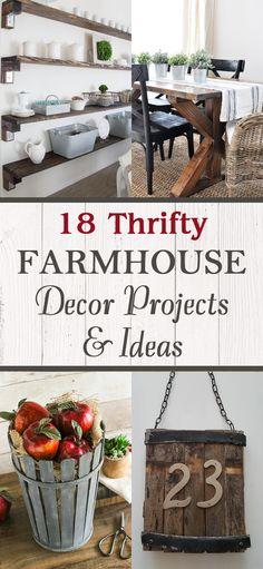 18 Thrifty Farmhouse Decor Projects & Ideas