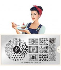 coffee themed nail stamping plate with coffee beans coffee cups
