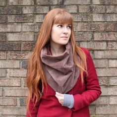 Easy sewing tutorial shows you how to create this suede infinity scarf