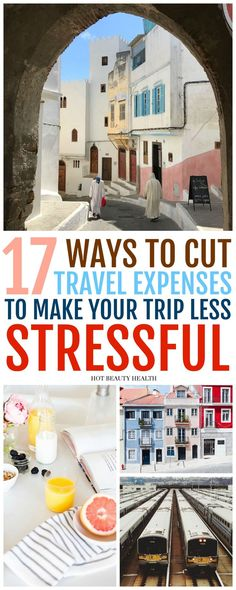 17 ways to cut travel expenses so you can budget and save tons of money on your trip. Follow these tips to help you save when going on vacations with family, planning trips and destinations on your bucket list, or going on a solo adventure. Hot Beauty Health #travel #traveltips #savemoneyontravel #vacation