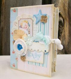 Chipboard Album Ocbrandy TPHH Premade Photo Scrapbook Baby Boy Handmade Keepsake   eBay