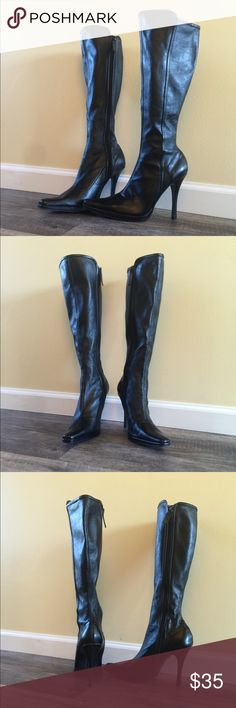 75% off‼️ Chinese Laundry leather boots size 10 Chinese Laundry black leather boots size 10, zip up. These have been gently worn a time or 2 and are in near perfect condition.  These are narrow, not wide calf.  Very sexy and super nice. Chinese Laundry Shoes Heeled Boots