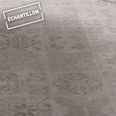 Echantillon sol stratifié Novofloor effet carreaux ciment gris