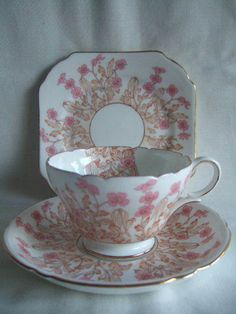 Shelley Trio Floral Hedgerow Pattern