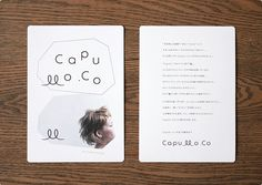 Capullo .Co client : Capullo .Co / media : ロゴ、名刺、ツール art direction : 加藤 雅尚 / design : 加藤 雅尚 / photograph : 秦 義之 / styling : 佐藤 真由子 / photo retouch : 加藤 雅尚