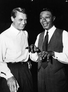 Nat King Cole friends | Cary Grant and Nat King Cole