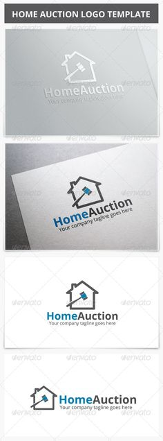 Home Auction Logo by XpertgraphicD Logo Description : Very stylish, clean and modern logo template. This logo is fully vector graphic. This logo template can be used