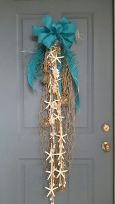 DIY Coastal Christmas Door Swag
