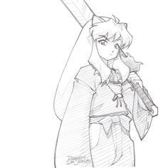Inuyasha Pencil Sketch Commission by Banzchan on DeviantArt