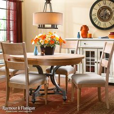 A comfortable and stylish dining set like this is the first step to enjoying dinner with the family every night. Find the perfect dining set for your home.
