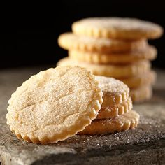 These tender sugar cookies are sprinkled with cardamom sugar before baking for extra flavor.