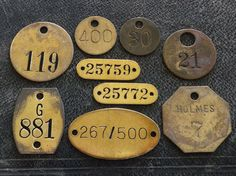 Vintage Number Tags