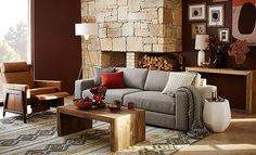 I love the west elm Curated Rustic Living Room on westelm.com/