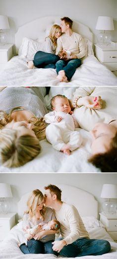 Voor Newborn / Lifestyle shoots: houd het simpel, hier wordt prachtig gebruik gemaakt van basiskleuren als wit, grijs en beige.