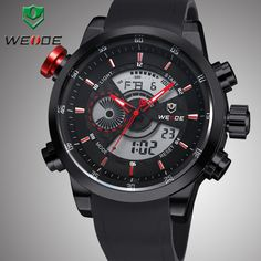 Find More Wristwatches Information about New Arrival WEIDE Men Watches Japan Quartz Analog Digital Display 3ATM Waterproof Diving Luxury Military Men Sports Watch WH3401,High Quality Wristwatches from WEIDE Official Flagship Store on Aliexpress.com