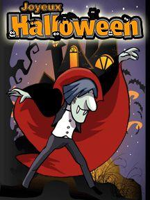Une carte d'invitation Vampire, à imprimer pour Halloween
