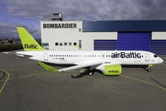 airBaltic Bombardier before delivery (still wearing its Canadian test registration) European Airlines, Commercial Aircraft, New Details, Aviation, Delivery, The Unit, Air Ride, Aircraft