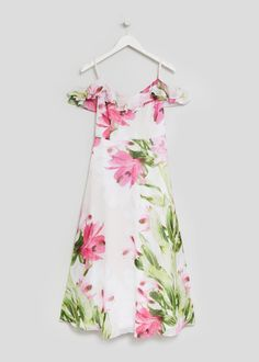 FWM Chiffon Printed Maxi Dress White Maxi Dresses, Summer Dresses, Matalan, Occasion Wear, Floral Tops, Chiffon, Printed, Clothes For Women, Elegant