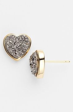 These Marcia Moran 'Drusy Extravaganza' Heart Stud Earrings can be brought at Nordstrom. Cute Jewelry, Jewelry Box, Jewelery, Jewelry Watches, Jewelry Accessories, Heart Jewelry, Jewelry Necklaces, Diamond Are A Girls Best Friend, Girly Things