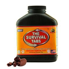 Emergency Food Survival MRE readytoeat Replacement for Hiking Camping Bug Out and Prepper Supplies  Pack Light Stay Strong  GLUTEN FREE  NONGMO  25 Years Shelf Life 180 Tabs  Chocolate * Read more  at the image link.