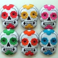 Candy Sweet Sugar Skull Brooch Pin