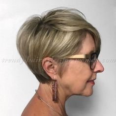 short hairstyles over 50 - short hairstyle with long bangs
