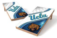 UCLA Bruins Cornhole Board Set - Swirl (w/Bluetooth Speakers)