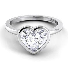 Heart-Shaped Engagement Rings | Brides