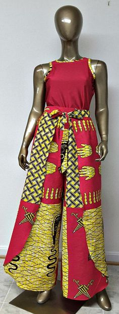 African Print Wrap Palazzo Pants. Sash Waistband. Wide Leg Pants. Womens. This is an unlined African Print Wrap Palazzo Pants. Handmade. Ankara | Dutch wax | Kente | Kitenge | Dashiki | African print dress | African fashion | African women dresses | African prints | Nigerian style | Ghanaian fashion | Senegal fashion | Kenya fashion | Nigerian fashion | Ankara crop top (affiliate)